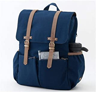 Stylish Wallet RFID Blocking Canvas Vintage Double Shoulder Womens Leather Backpack Kids Diaper Bag Backpack Fashion Trend Casual Travel School Outdoor Multifunction Bag s922