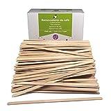1000 palettine caffè in legno da 17.8 cm. Bastoncini da caffè usa e getta, Bastoncini pe...