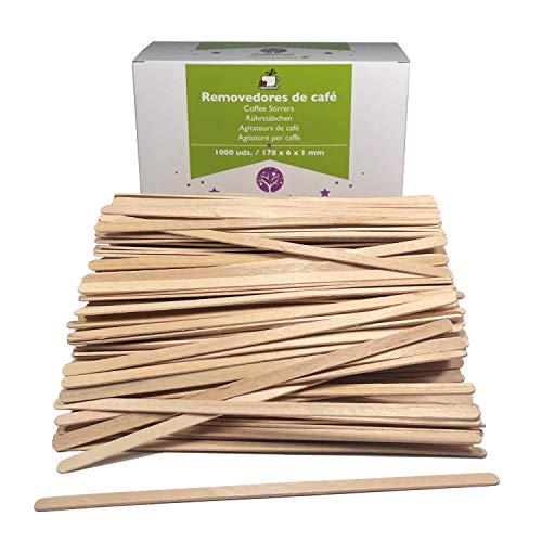1000 Stk. Rührstäbchen 17.8 cm lange aus Holz. Einweg Kaffeestäbchen, Kaffee Holzrührstäbe. Sticks Für Tee und Kaffee. Holzstäbchen zum basteln