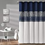 """Lush Decor 1 Night Sky Shower Curtain 