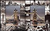 Mural 3D Efecto Cartel Gigante Londres Arquitectura Retro Imagen Biblioteca De Fotos Sala De Estar Restaurante Hotel Centro Comercial Decoración Papel Tapiz-300Cmx210Cm(Lxa)