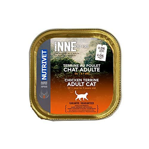 Nutrivet Inne Terrine Adulte Poulet BQ pour Chat 150 g