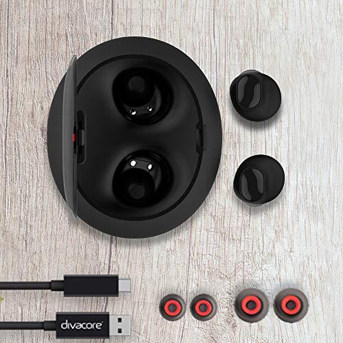 DIVACORE AntiPods, Ecouteurs sans Fil Stereo 3D - Noir