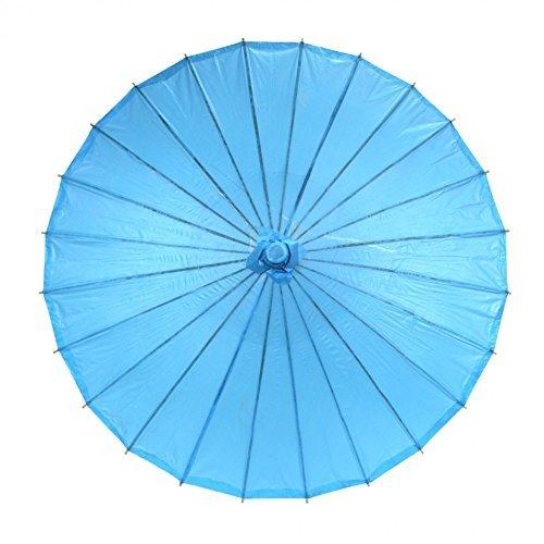 Leayao - Ombrello asiatico, giapponese o cinese, in carta oleata, tinta unita, 1pezzo, Blue, 4