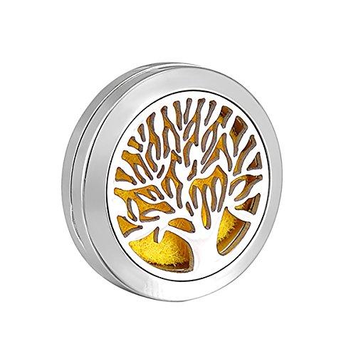 HooAMI parfum broche holle levensboom sieraden aromatherapie etherische olie met 11 pads