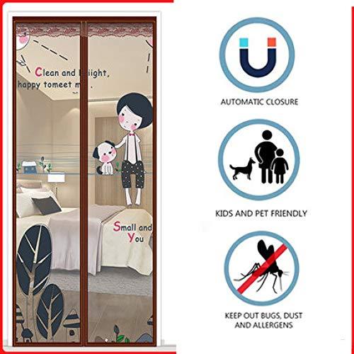 Fengz vliegengaas, magnetisch, zelfsluitend, super breed, klittenbandsluiting, deur raam, magnetisch, voor hal, deur, patio, ramen, dieren 120*220CM E1