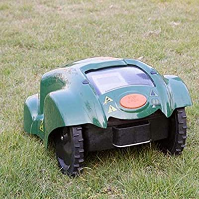 DDL Robotic Lawn Mower with rain Sensor and Safety Shut-Off Device, WiFi Remote Control Anti-Theft Password Mower for g (Color : ArmyGreen)