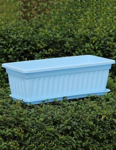 ZENGAI Pots de fleurs rectangulaires en résine, Pots de légumes, Pots de plantation verts, Jardinière de fleurs (Couleur : B, taille : 49*20*14cm)