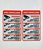 HAYLINS Security Camera System Sign Reflective Vinyl Decal Sticker Pack of 8 Weather Resistant 2.5'X3.5' Video Surveillance Signs for Outdoor USE UV Protected Stickers for Home OR Business Windows