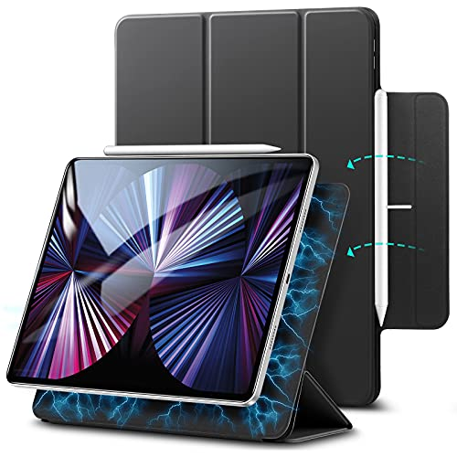 ESR Magnetic Case for iPad Pro 11 2021/2020 / 2018, Case for iPad Pro 11 Inch, Convenient Magnetic Attachment, Trifold Smart Case, Auto Sleep/Wake Trifold Stand Case, Black