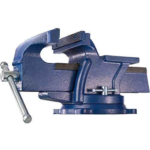 TecTake Tornillo de banco con yunque plato giratorio 360° para banco de trabajo - varias tamaños - (lapso 165 mm | No. 401125)