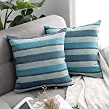 <span class='highlight'><span class='highlight'>MIULEE</span></span> Faux Linen Stripe Square Throw Pillow Case Cushion Cover Home for Sofa Chair Couch/Bedroom Decorative Pillowcase 20