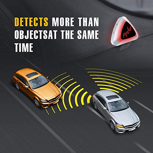 STEELMATE Universal Ultrasonic Car Blind Spot Detection System (BSD) Lane Change Assistant (LCA) Rear Cross Traffic Assistant (RCTA) Auto Safety Monitoring Assistants 3 in 1