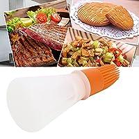 キッチンブラシ、卵調味料、マリネ、粉砂糖用の安全なオイルボトルブラシ(orange)