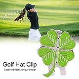 RiToEasysports Magnetischer Golfball-Markierungs-Hutclip, Kleemuster-Golfballmarker mit magnetischem Ballmarker für das Golftraining