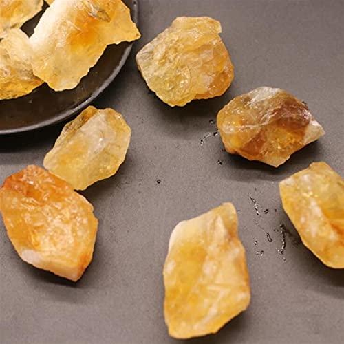 YANGB Piedra de Chakra 50-100g Cristal Natural Citrino Original Piedra Cuarzo Cristal Joyería Mineral Jardín Piedra Piedra Aquarium Piedra Decoración de Hogar Piedra (Size : 50g)