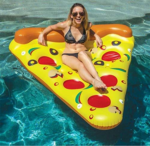 Aufblasbare Pizza Pool Float Outdoor-Pool Party Riesen Pizza Schwimmende Reihe PVC Schwimmring Wasser Float Pizza Wasser Luftmatratze Slice Pool Float