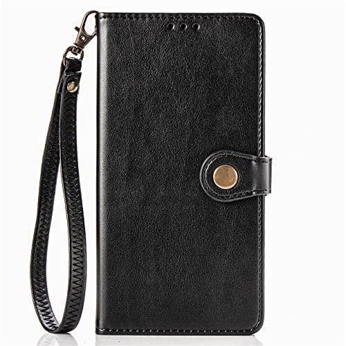 BAILI Funda para LG K62,Ranura para Tarjeta,Soporte Plegable,Funda Tapa Libro Flip Phone Cover Case para LG K62,Negro