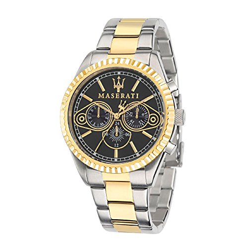 Maserati Reloj Analógico de Cuarzo para Hombre con Correa de Acero Inoxidable – R8853100008