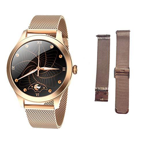 JXFF KW10PRO Smart Watch Ladies Contacto Completo Pulsera Monitor De Ritmo Cardíaco Monitoreo del Sueño Smartwatch Ladies KW10 Pro Es Adecuado para Android Y iOS,M