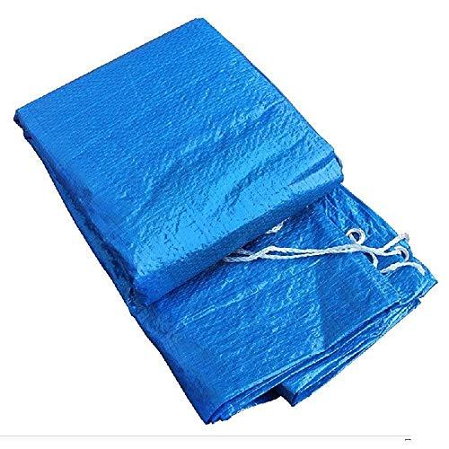 Cubierta de Piscina Hinchable Redonda, Cobertor de Piscina Antipolvo Resistente a La Lluvia Lona Protectora de Piscina 244cm/305cm/366cm