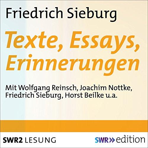 Friedrich Sieburg - Texte, Essays, Erinnerungen audiobook cover art
