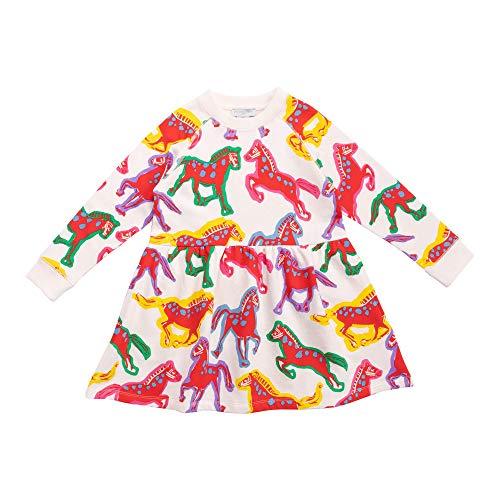 Stella McCartney Kids Girl's Painted Horse Sweatshirt Dress (Toddler/Little Kids/Big Kids) Multi 4T (Toddler)