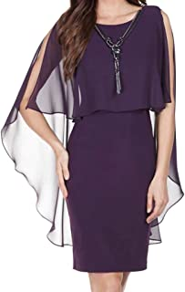 b4a0449befe FRANK LYMAN Womens Jeweled Cape Dress Style 179815