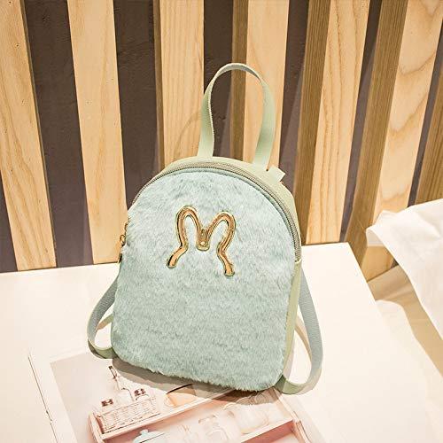 YUIOP Rucksack Plüsch Kaninchen Rucksack Multifunktionale Mini Damen Kleinen Rucksack Schulter Messenger Handtasche