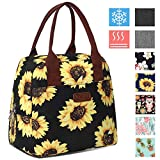 DIIG Lunch Box for Women, Insulated Lunch Bags for Women, Large Cooler Tote For Work, Floral...