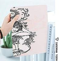 IPadケース スマートカバー アイパッドケース タブレットカバー アイパッド第四世代 第三世代 太陽の下で裸の女の子の芸術画像崇高な自然の妖精コスモスニンフ神