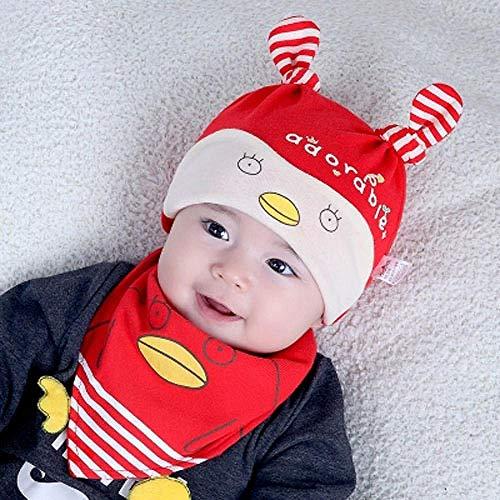 Aibccr Nettes Neugeborenes 0 Monate Baumwollbabyhut Frühling und Herbst 1 Jahr alte weibliche Babyprinzessin 3 Frühling 6 Baby 12 Dünnschnitt