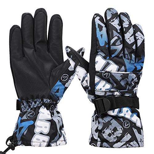 Unisexe Gants Ski Snowboard Thermique Moufles Isolants en Polaire Chaud Homme Femme Mitaines Complets Epais Hiver Imperméable Coupe-vent Gloves Sport Extérieur Moto Vélo Randonnée Camping Alpinisme