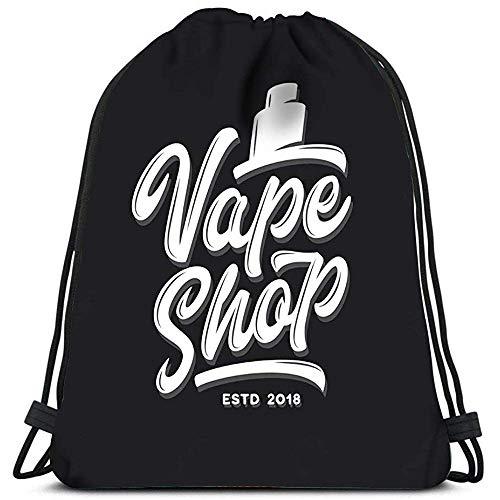Sanme Kordelzug Rucksack Vape Shop Vaping Travel Sporttaschen Rucksack Schultertaschen