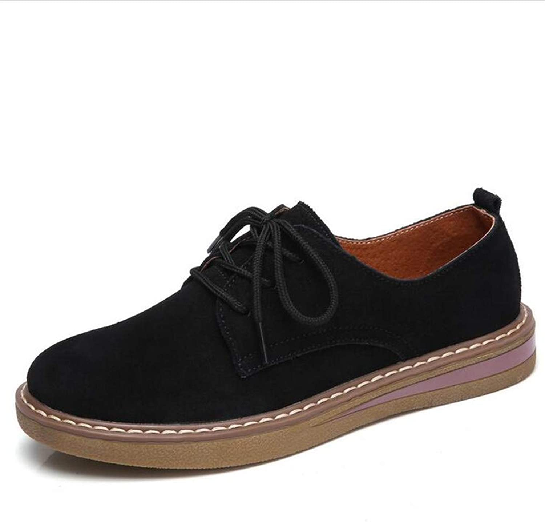 kvinnor skor Fall Fall Fall Winter England Mina damer Round Toe skor  Academy små läder skor  Lace -up Mamma skor  upp till 60% rabatt