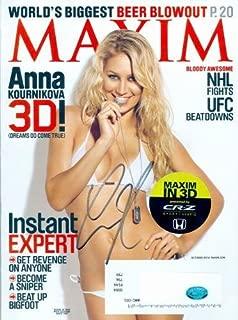 Anna Kournikova autographed Maxim Magazine (Tennis Star - Swimsuit Model) - Autographed Tennis Magazines