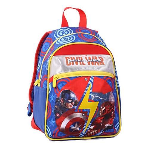 Capitain America Civil War - Zaino, Small, 10 litri, Poliestere, Multicolore