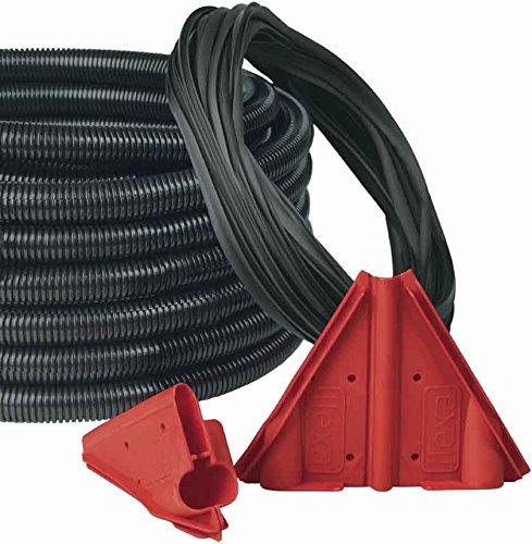 Flexa–Vollkunstoff gewellt Zip Rohr Kunststoff schwarz AD42,510m Schlauch geriffelt