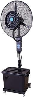 Nebulizador de Agua Ventilador Industrial Pedestal Ventilador Atomización Enfriamiento Ventilación de 3 velocidades de Altura Ajustable de bajo Ruido y Alto Rendimiento para Gimnasio Ventilador nebu