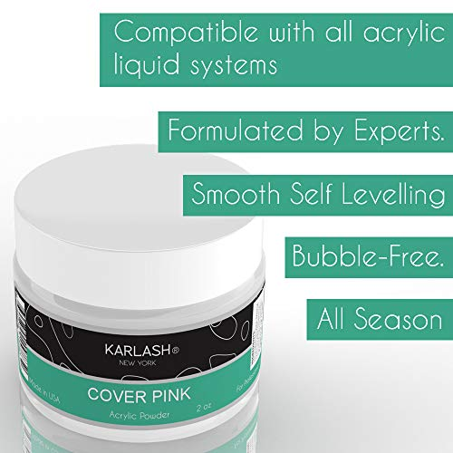 Karlash Professional Acrylic Powder Nails Cover Pink 2 oz