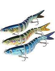 Magreel Cebos Artificiales para Pescar Señuelos Segmento de Pesca Múltiple Trajes de Baño Kit de Pesca para Trucha Perca Lucioperca