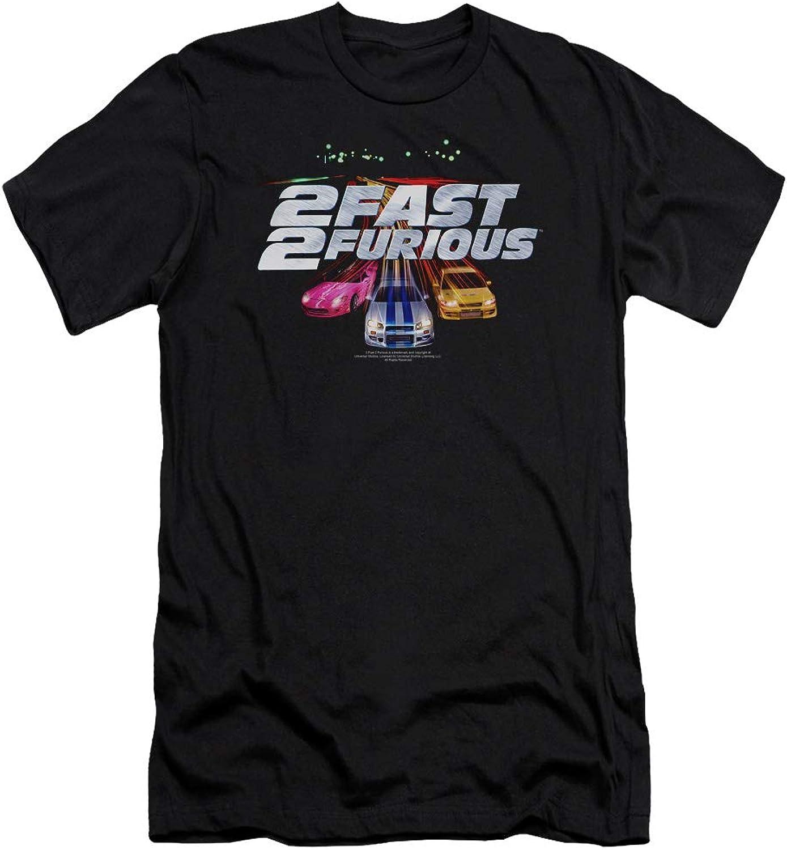 2 Fast 2 Furious  Mens Logo Premium Slim Fit TShirt