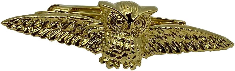 D&L Menswear Men's Gold Plated Owl Tie Clip