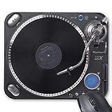 N\A Uoopoo DJ Tocadiscos Alfombrilla de ratón rectángulo Antideslizante Alfombrilla de ratón Personalizada Alfombrilla de ratón para Juegos (patrón: impresión)