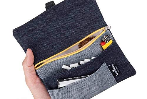 Tabaktasche Jeansstoff Tabakbeutel Black Denim