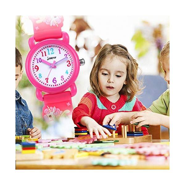 Kids Watch,Girls Watch 3D Cute Cartoon Waterproof Silicone Children Toddler Wrist Watch for 3-10 Year Girls Little Child