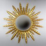 Rococo Espejo Decorativo Tipo Sol de Madera Urban Surya de 120x120 en Oro (Envejecido)