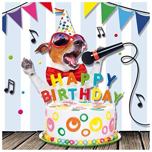 Susy Card verjaardagskaart, afmetingen: 15 x 0, 2 cm Zingende hond