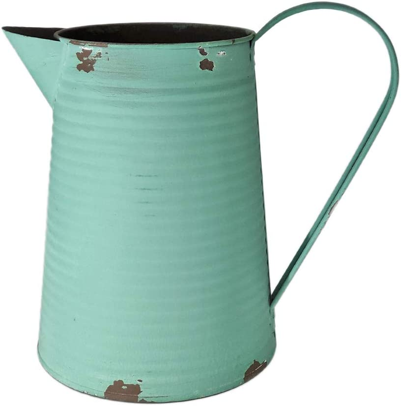 Branded goods WHHOME New sales Shabby Chic Watering Can Metal Vase Pri Galvanized Finish
