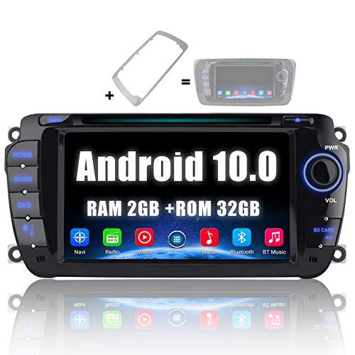 AWESAFE [Android 10.0 2GB+32GB] Radio Coche para Seat Ibiza 2009-2013, Autoradio de 7 Pulgadas con Pantalla Táctil 2 DIN de Seat Ibiza